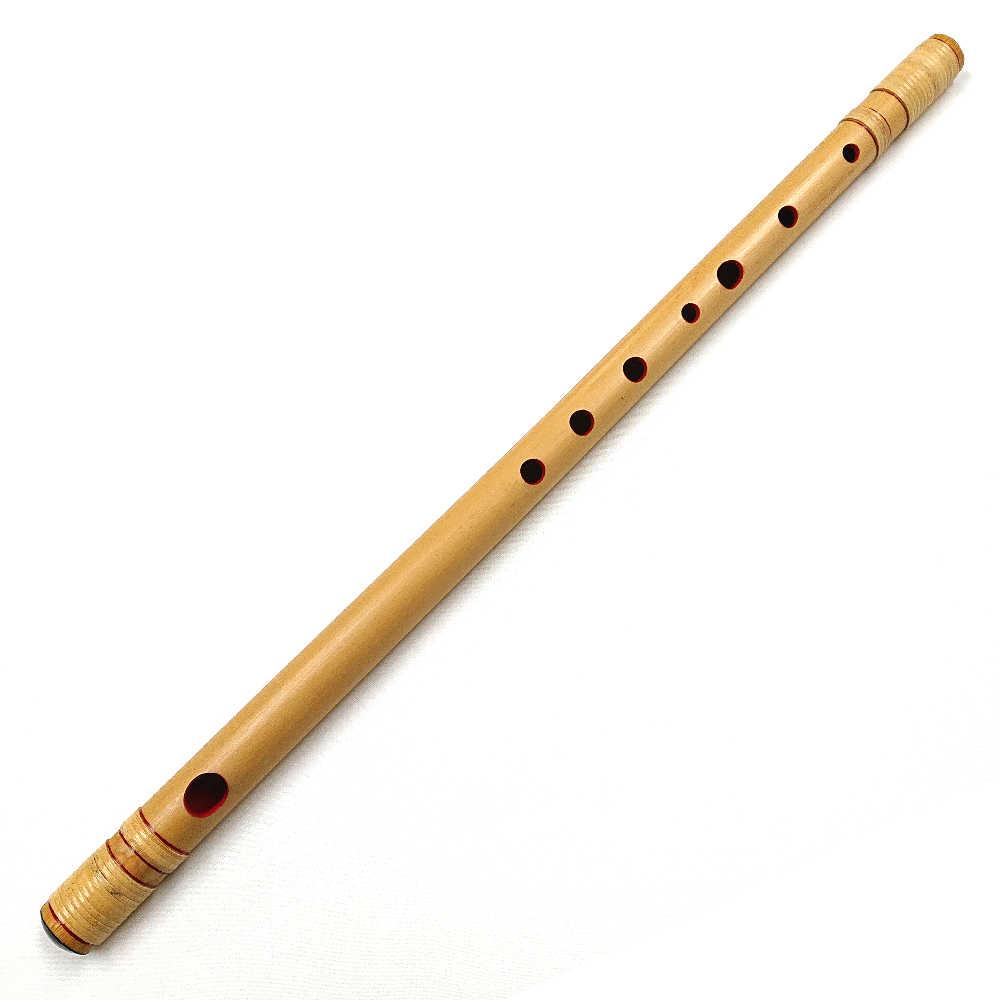 【送料無料】竹製 篠笛 籐巻き 七本調子 ブランド:明鏡 笛袋付き