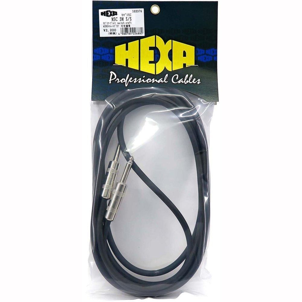 【送料無料メール便】HEXA モガミSCケーブル 先端ストレート+ストレート 3m 日本製ハイスペックギターケーブル