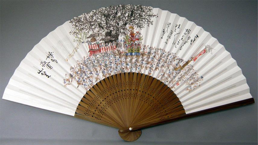 山笠扇子(櫛田のぎなん)