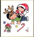 ミニ色紙12月クリスマス