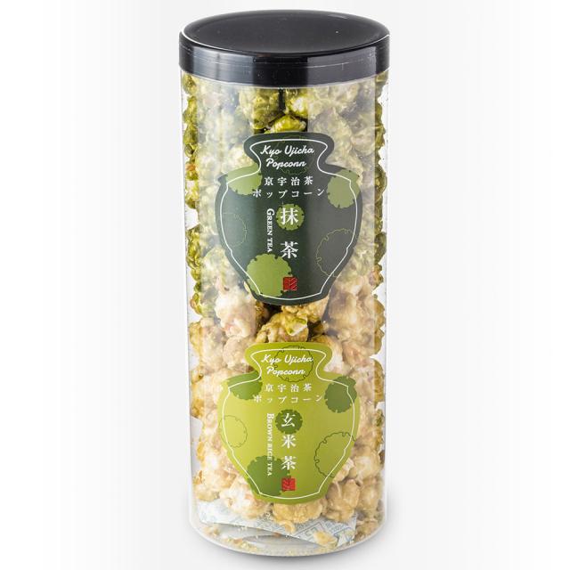 【ご自宅用お買得品】【化粧箱なし】京都宇治茶ポップコーンショート(宇治抹茶・玄米茶)