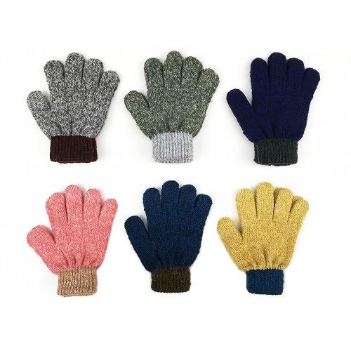 【ゆうパケットOK】OCEAN&GROUND|オーシャンアンドグラウンド キッズ 手袋 バイカラー 全6色