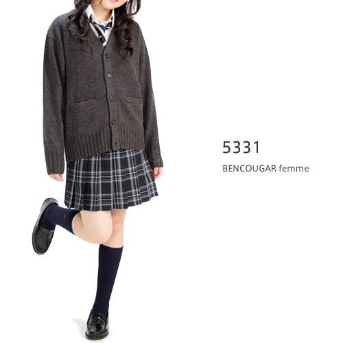 ベンクーガー スクールスカート (ブラック×グリーンチェック・5331)