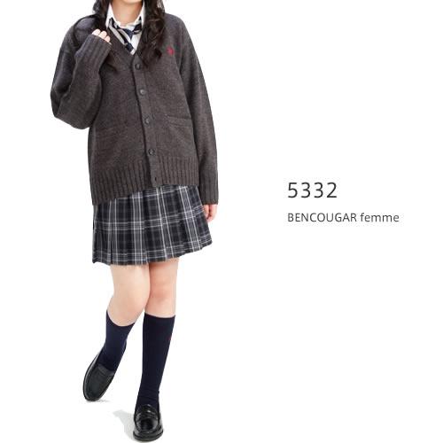 BENCOUGAR|ベンクーガー スクールスカート W60cm-W85cm(アクアラインチェック)