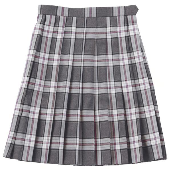 ベンクーガー スクールスカート (ベージュ×ピンクチェック・5351)