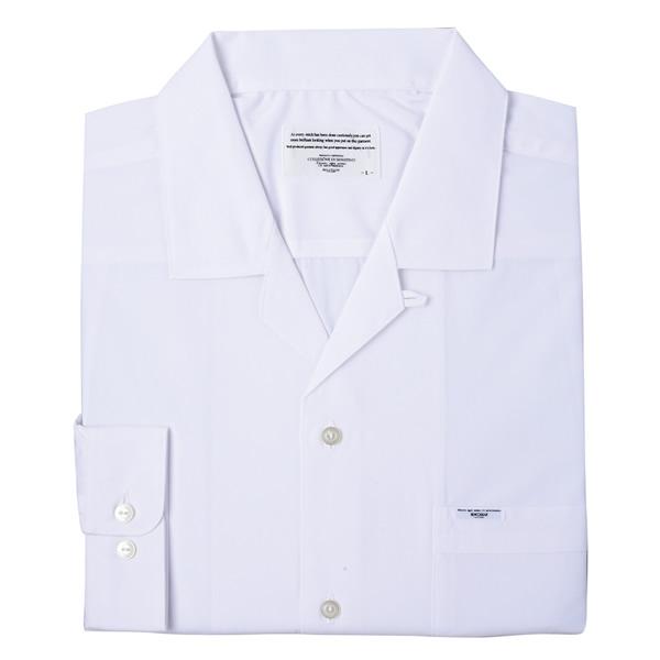 スクールシャツ 長袖 (オープン衿)
