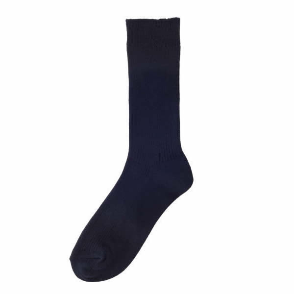 【ゆうパケットOK】26cm丈靴下 ソックス ネイビー