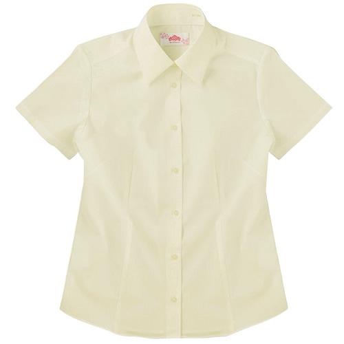 ビーステラ 半袖スクールシャツ (イエロー) ワイシャツ Yシャツ