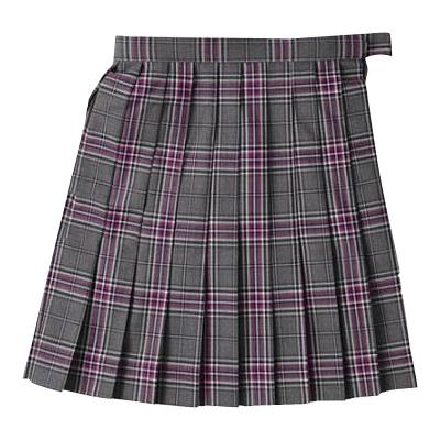 ビーステラ スクールスカート (グレー×パープル・BS501)