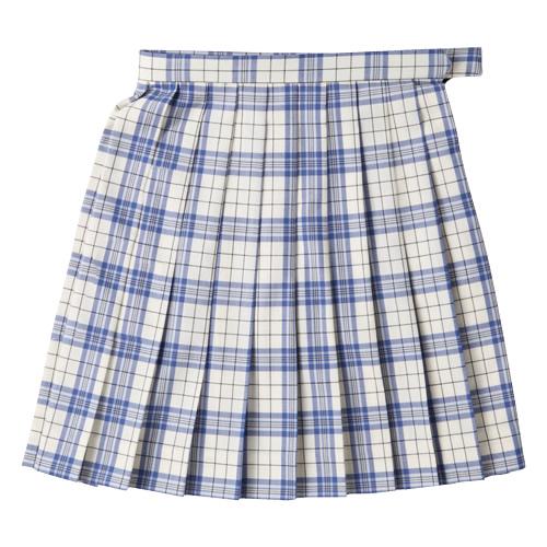 ビーステラ スクールスカート (ホワイト×ブルー・BS503)