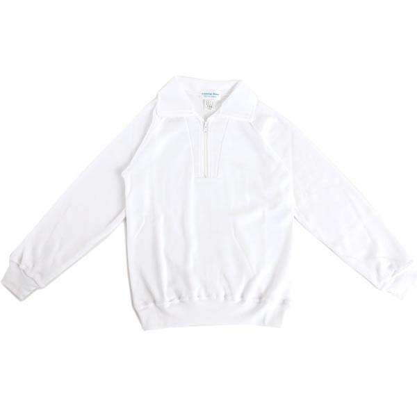 【1点までゆうパケット可】 小学生制服 半開チャックトレシャツ 長袖 男女兼用 A体