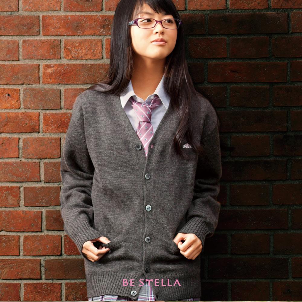 BESTELLA ビーステラ スクールカーディガン アクリル70%ウール30% 女子 S-LL(5色)