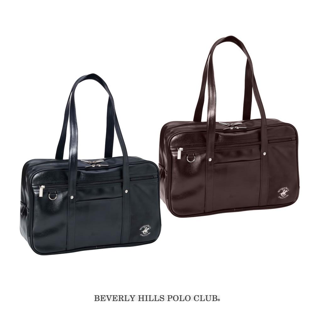 BEVERLY HILLS POLO CLUB|ビバリーヒルズポロクラブ スクールバッグ 学生鞄 合皮(ブラック・ブラウン)