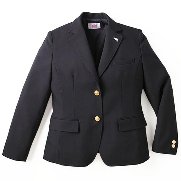 制服 ブレザー ビーステラ スクール レギュラーシルエット ウール50%ポリエステル50%(ネイビー)