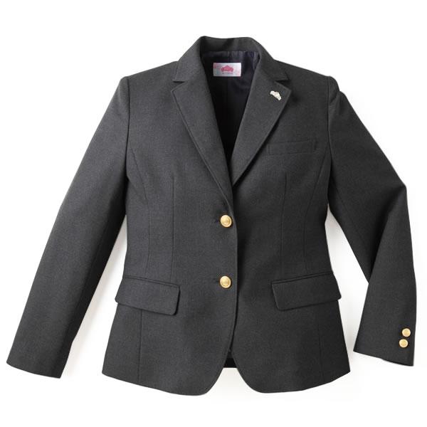 制服 ブレザー ビーステラ スクール レギュラーシルエット ウール50%ポリエステル50%(チャコールグレー)