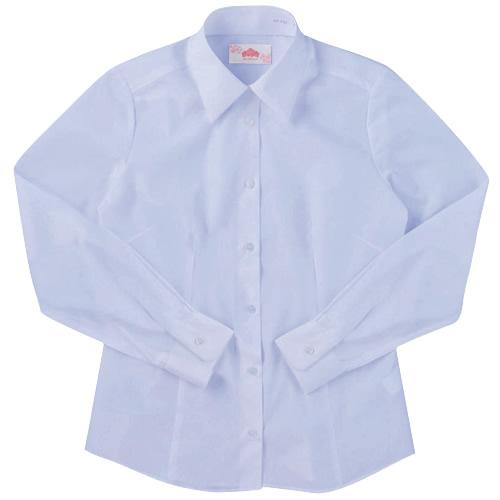 ビーステラ 長袖スクールシャツ (サックス) ワイシャツ Yシャツ