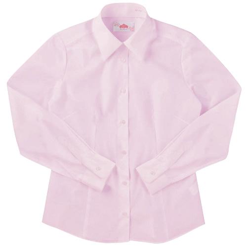 ビーステラ 長袖スクールシャツ (ピンク) ワイシャツ Yシャツ