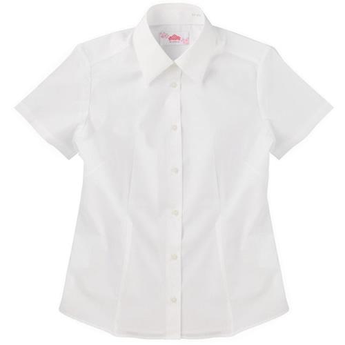 ビーステラ 半袖スクールシャツ (オフホワイト) ワイシャツ Yシャツ