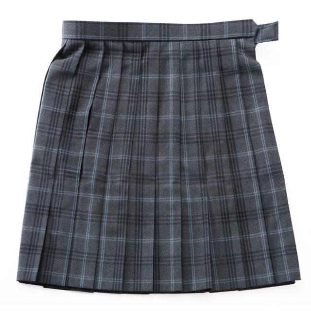 ビーステラ 制服 スカート (グレー×ブルー・BS507)