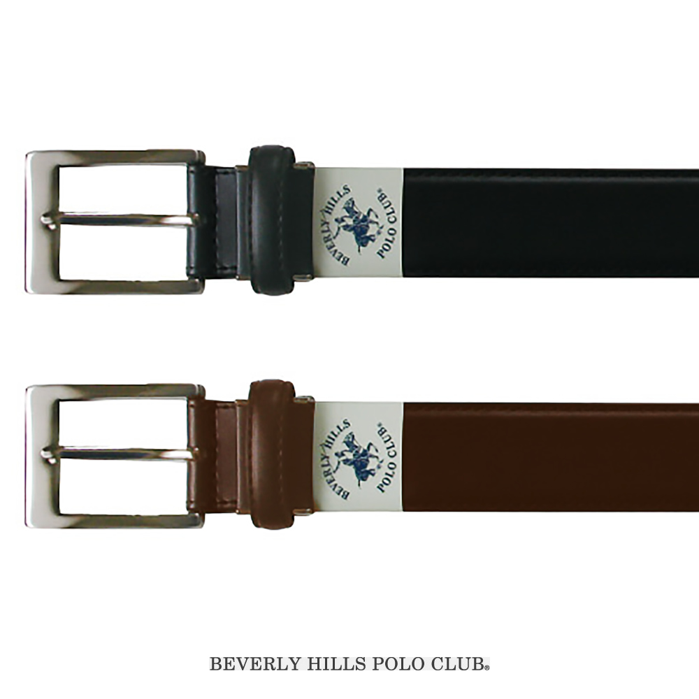 BEVERLY HILLS POLO CLUB ビバリーヒルズポロクラブ 35mm スクールベルト(ブラック・チョコ)