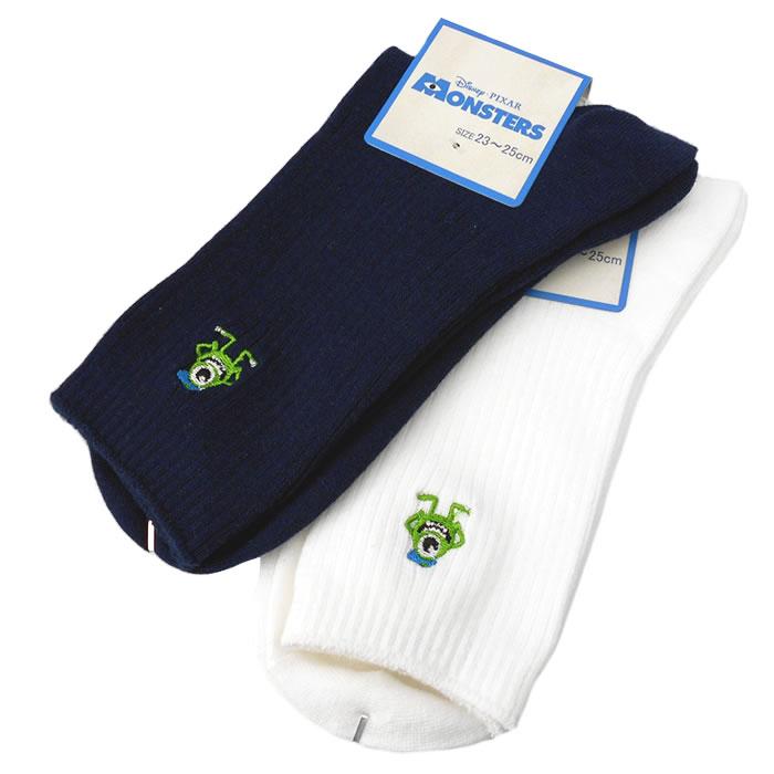 スクールソックス 制服 靴下 マイク リブ 18cm丈(白・紺)
