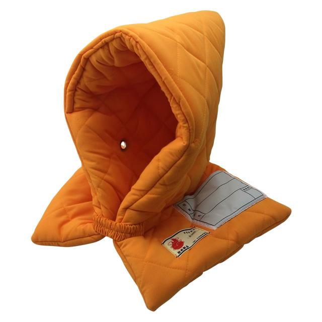 全国で初めて防炎性能基準に合格した認定品!小学生用 防災頭巾(オレンジ)