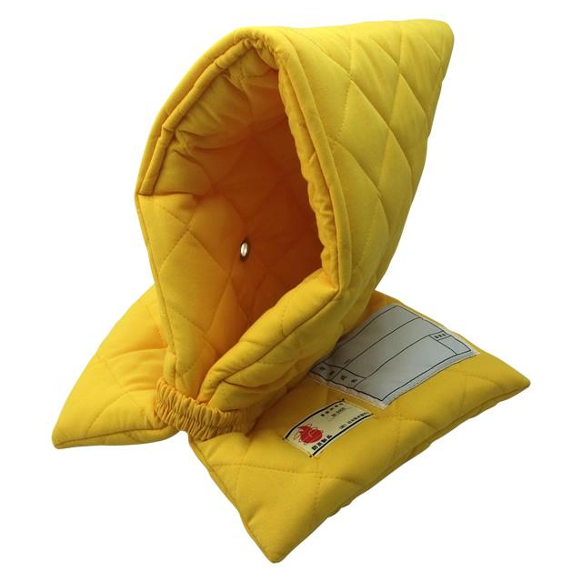 全国で初めて防炎性能基準に合格した認定品!小学生用 防災頭巾(黄)