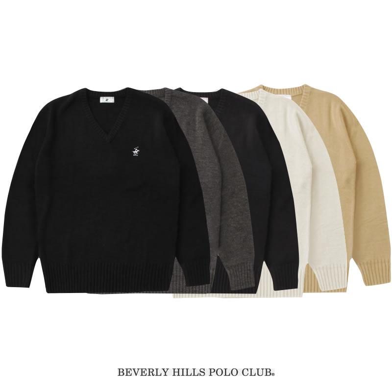 BEVERLY HILLS POLO CLUB|ビバリーヒルズポロクラブ スクールセーター 男女兼用(5色)