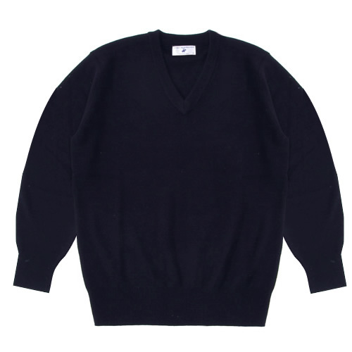 【アウトレット】 スクールセーター 男女兼用 秋冬 アクリル70%ウール30% ネイビー