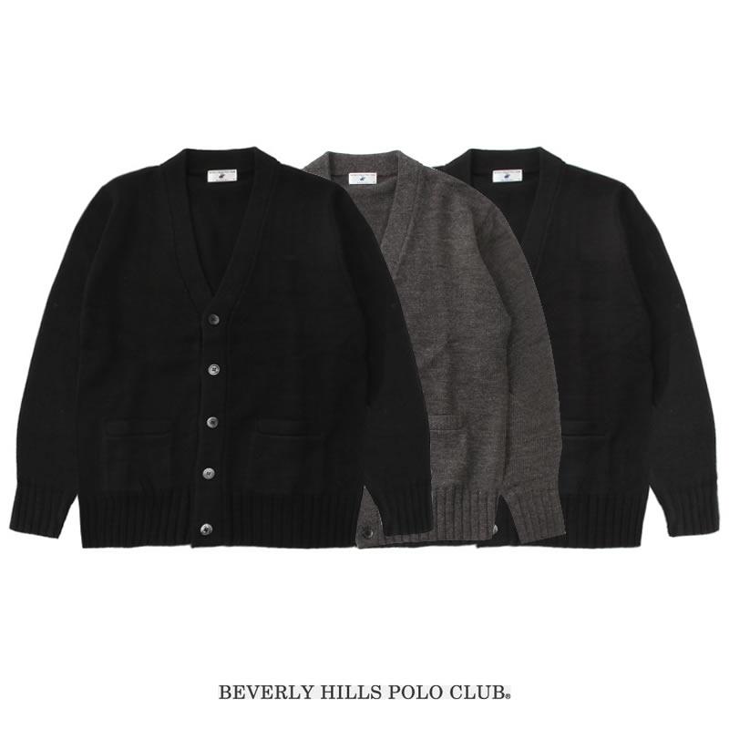 BEVERLY HILLS POLO CLUB|ビバリーヒルズポロクラブ スクールカーディガン 男女兼用 刺繍無(3色)