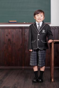 【全国送料無料】パイピングジャケット(ブラック)フォーマル6点セット 子供フォーマル トドラー 男の子 N-Boy