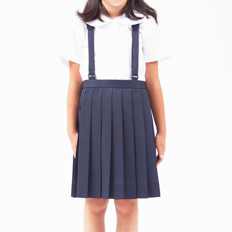 【アウトレット】小学生 制服 夏用スクールスカート プリーツ 紺 BB体
