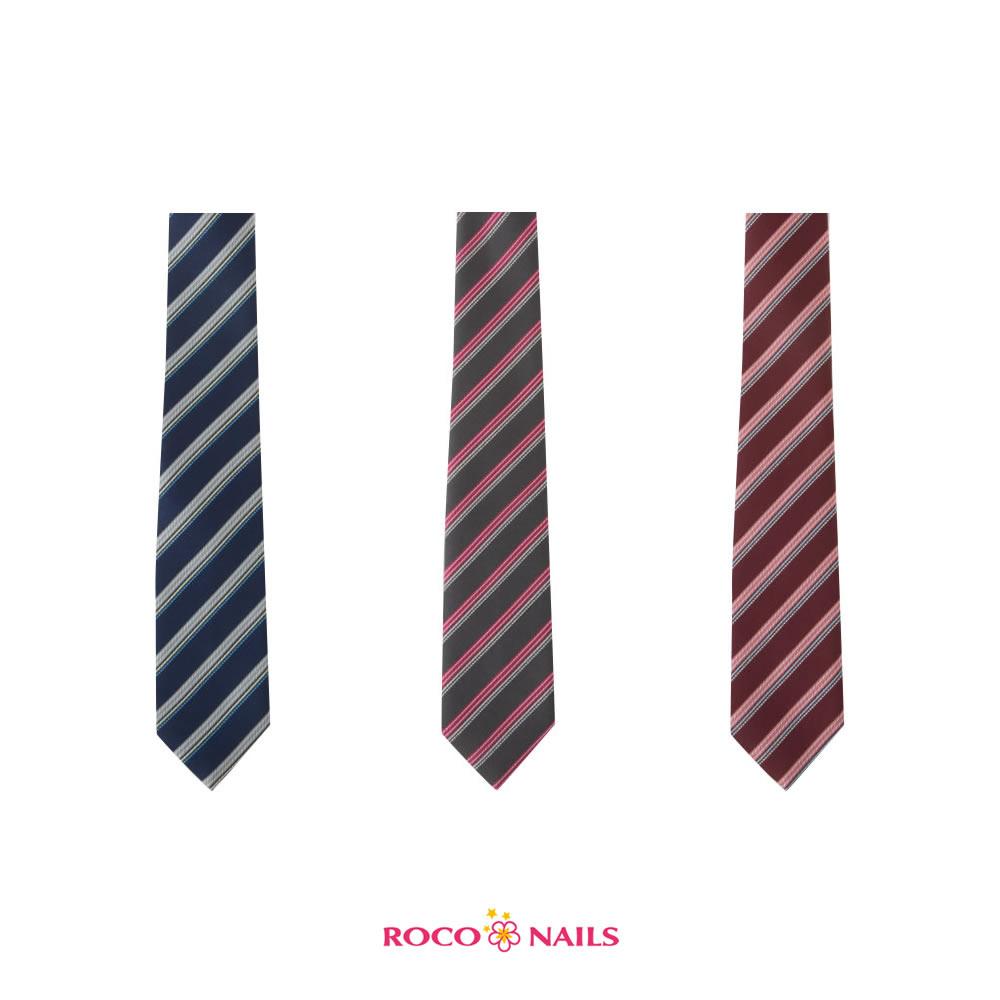 【ポイント20倍】ROCONAILS|ロコネイル スクールネクタイ レギュラー 女子(エンジ・グレー・ネイビー)