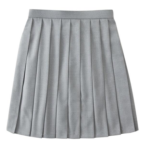 ROCONAILS|ロコネイル  スクールスカート 女子 学生服 7号-13号(グレー 無地)