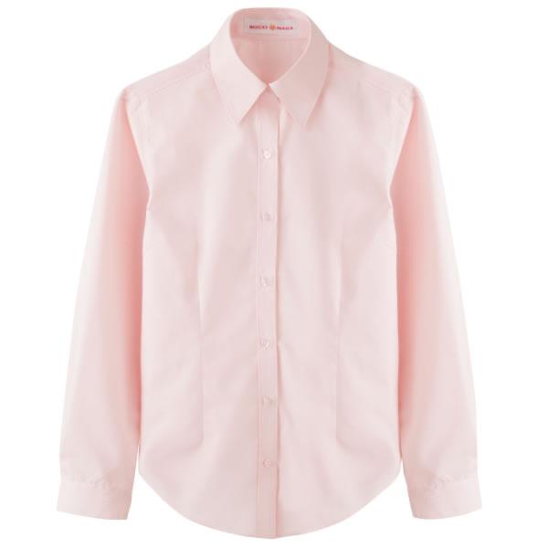 ROCONAILS 長袖スクールシャツ ピンク