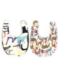 OCEAN&GROUND|オーシャンアンドグラウンド スタイ Graffiti&Animal carnival(ベージュ・オフホワイト)