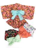 【1点までゆうパケット可】 Ocean&Ground オーシャンアンドグラウンド GIRL'S浴衣セットアップ 女児 FLOWER
