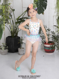 【ゆうパケットOK】 Ocean&Ground オーシャンアンドグラウンド 水着 女児 チュールスカートキャミワンピース