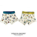 OCEAN&GROUND|オーシャンアンドグラウンド 下着 ボクサーパンツ 男の子 100-130cm(レッド・イエロー)