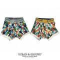 OCEAN&GROUND|オーシャンアンドグラウンド 下着 ボクサーパンツ 男の子 100-130cm(ネイビー・レッド)