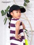 オーシャンアンドグラウンド(Ocean&Ground)子供服 帽子 バックリボン キャップ Mサイズ