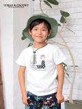 オーシャンアンドグラウンド(Ocean&Ground)子供服 Tシャツ ブラック|ホワイト