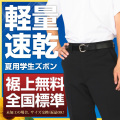 学生服 ズボン 夏用 ポリエステル100% (帯付・ノータック・斜めポケット・W88cm以上)【ゆうメール対応】