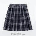 BENCOUGAR|ベンクーガー スクールスカート 51cm丈 W60cm-W85cm(アクアラインチェック)
