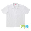 BESTELLA|ビーステラ スクールシャツ ブラウス 半袖 開衿 形態安定加工 防汚加工 SS-LL(白)