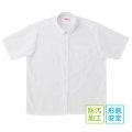 BESTELLA|ビーステラ スクールシャツ ブラウス 半袖 丸襟 形態安定加工 防汚加工 SS-LL(白)