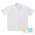 BESTELLA|ビーステラ スクールシャツ ブラウス 半袖 角襟 形態安定加工 防汚加工 SS-LL(白)