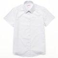 ビーステラ 半袖スクールシャツ (ホワイト) ワイシャツ Yシャツ 透け防止 ソフトスリムシャツ