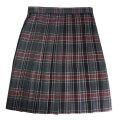 ビーステラ 制服 スカート (チャコール×ワイン・BS510)