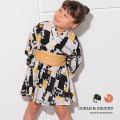 OCEAN&GROUND|オーシャンアンドグラウンド 浴衣 ワンピース 女児 女子 女の子 BLOCK PATTERN 1012702